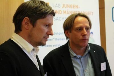 Jan Schweinsberg von der Fachstelle Blaufeuer und Peter Wild von der Landesarbeitsgemeinschaft Jungenarbeit Sachsen sind die massgeblichen Organisatoren des Fachtages